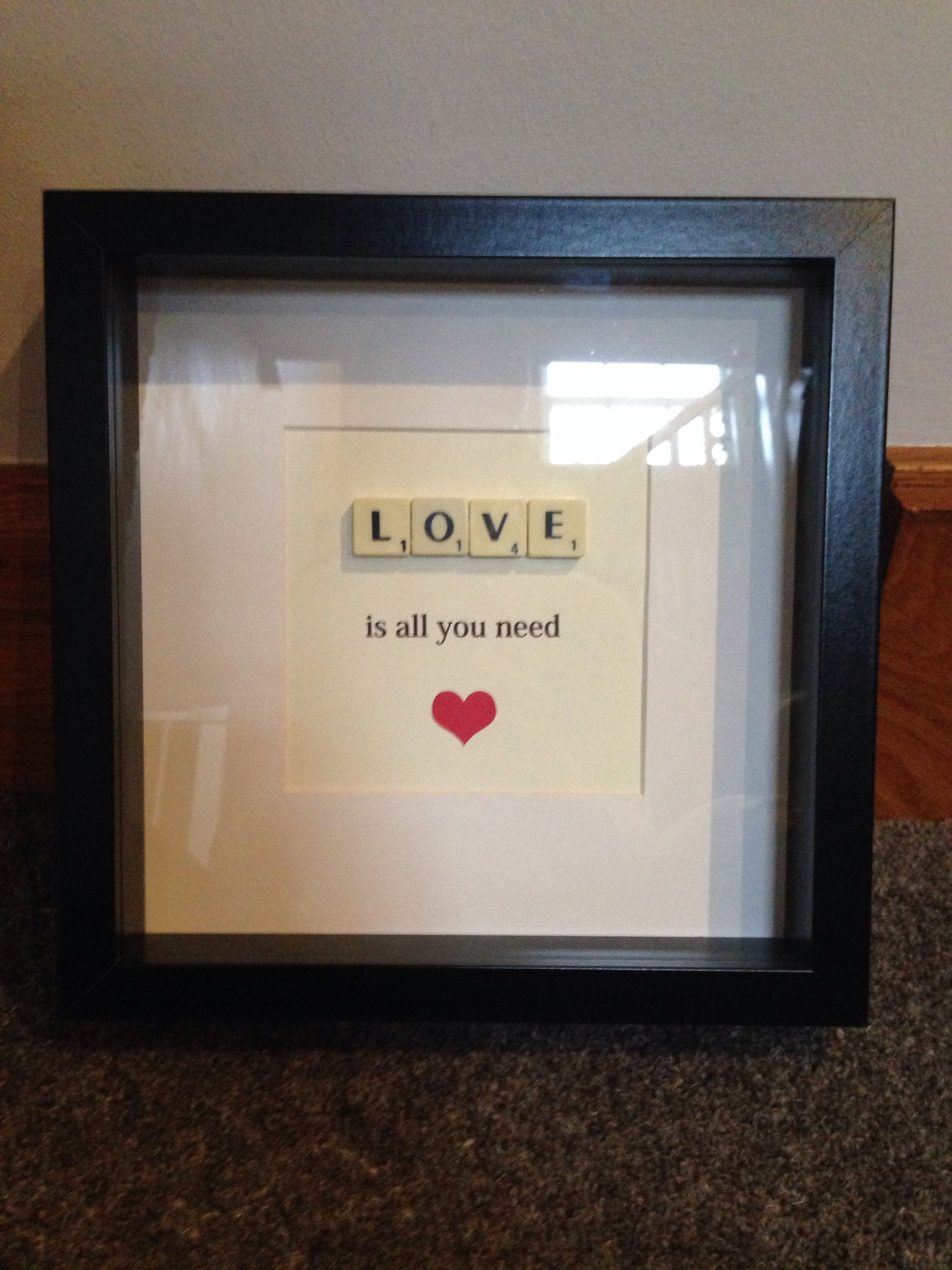 Home made scrabble frames :) … | Pinteres…