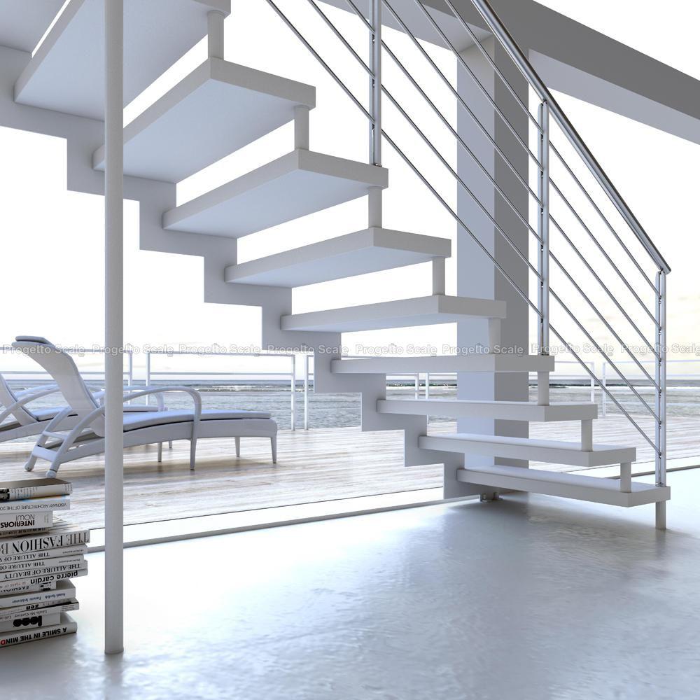 Scala con struttura a ginocchio 5 scale per interni - Gradini per scale a chiocciola ...