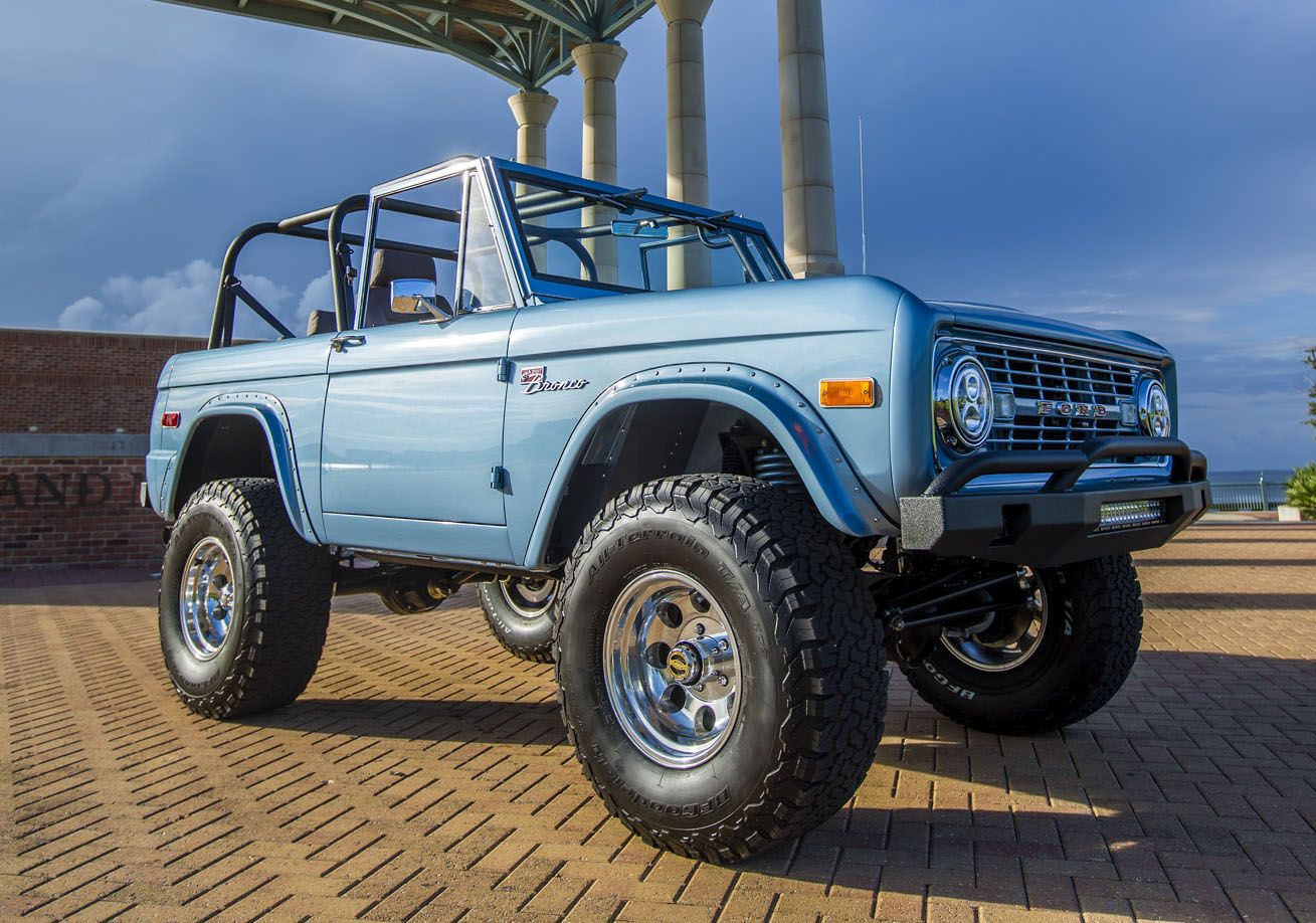 1974 Brittany Blue Classic Ford Bronco Classic Ford Broncos