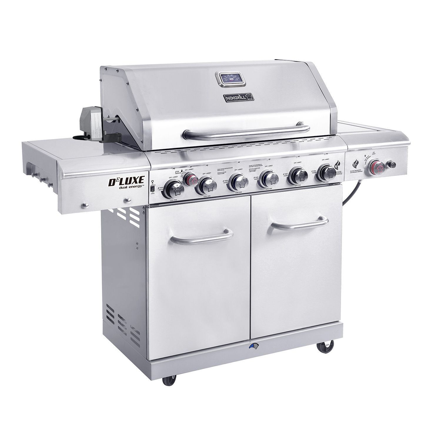 nexgrill 6 burner gas grill with searing side burner and