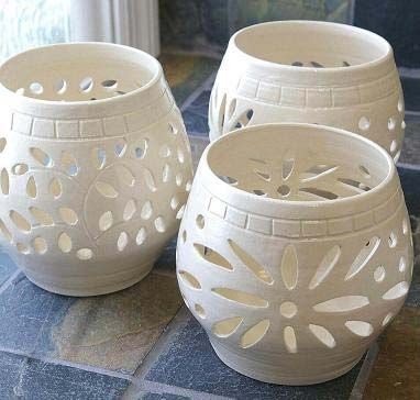 Ceramic Handicrafts Pottery Candle Pottery Candle Holder Ceramic Candle Holders