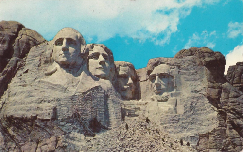 1962 Postcard Of Mount Rushmore National Memorial American Vacations National Parks Trip