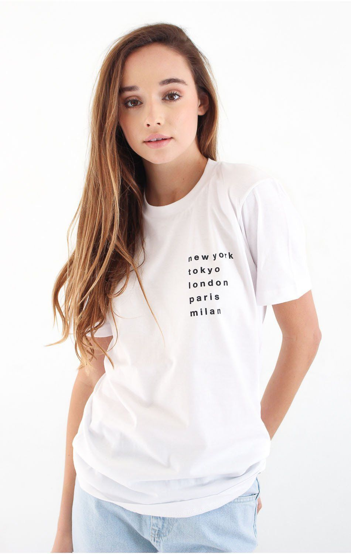 d52d7d80bcc Cities T-shirt - White White Shirts Women