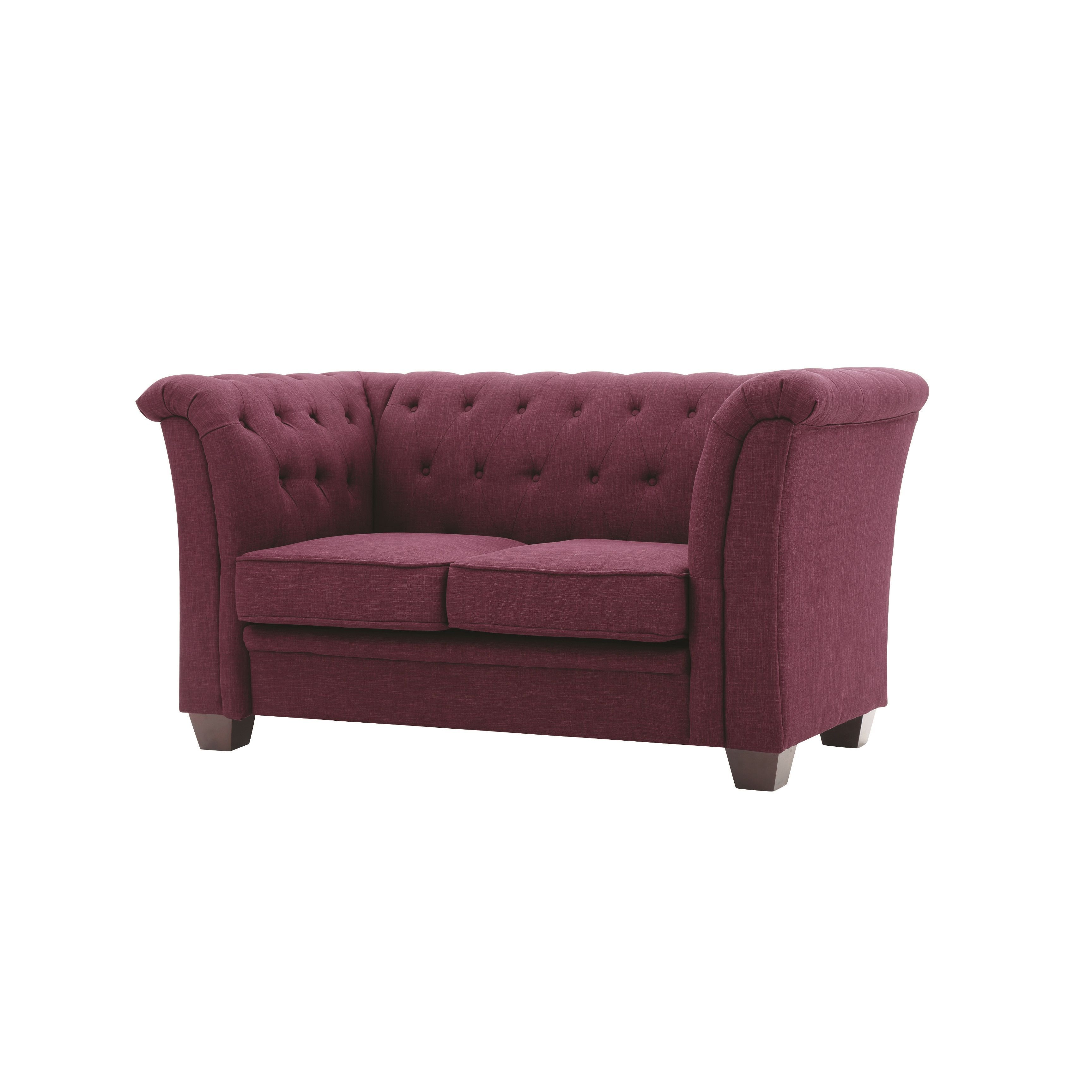 Lyke Home Tufted Twill Loveseat