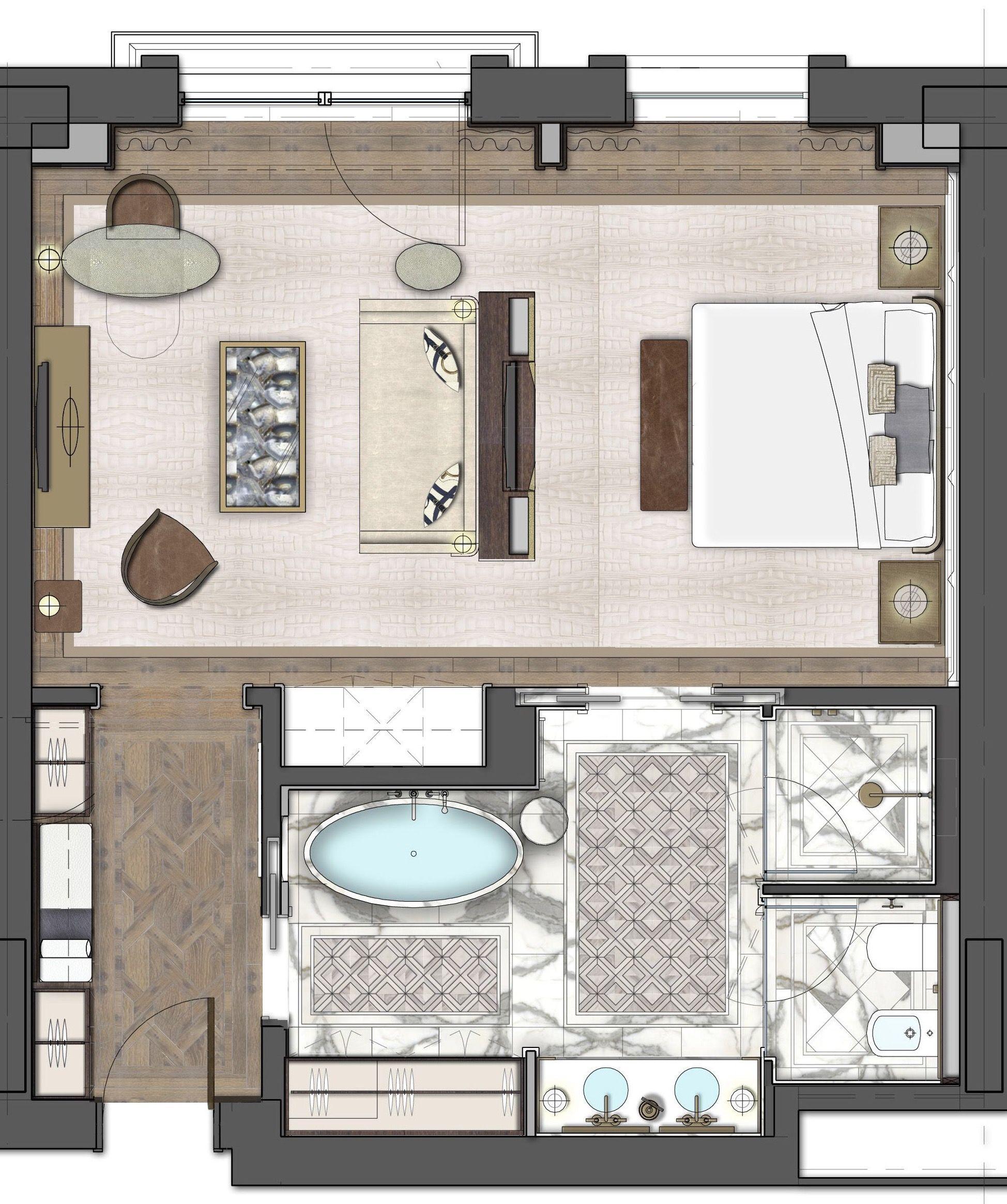 The St Regis Astana Deluxe Room 68sqm In 2020 Hotel Room Design Plan Hotel Room Design Bedrooms Hotel Room Design