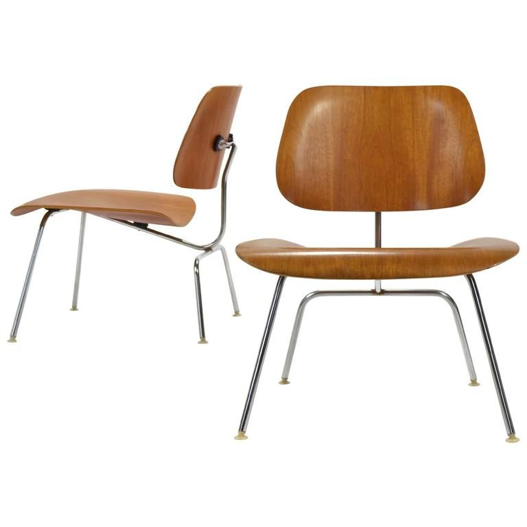 Pair Of Teak Eames LCM Lounge Chairs By Herman Miller