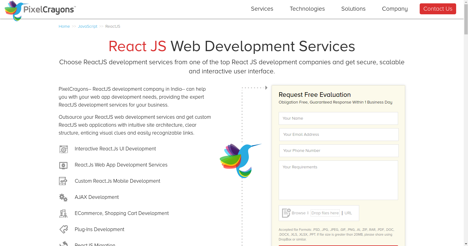 outsource reactjs web development company, reactjs web application