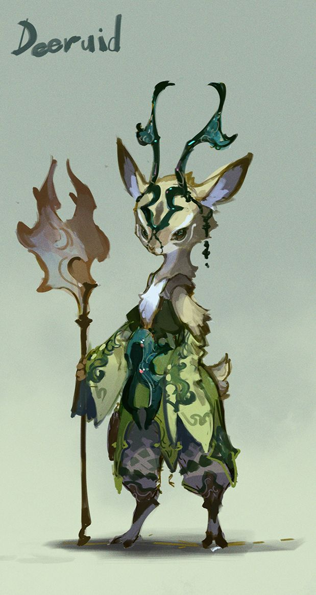 Character Design Help : Ovopack this character would be suitable for a forest