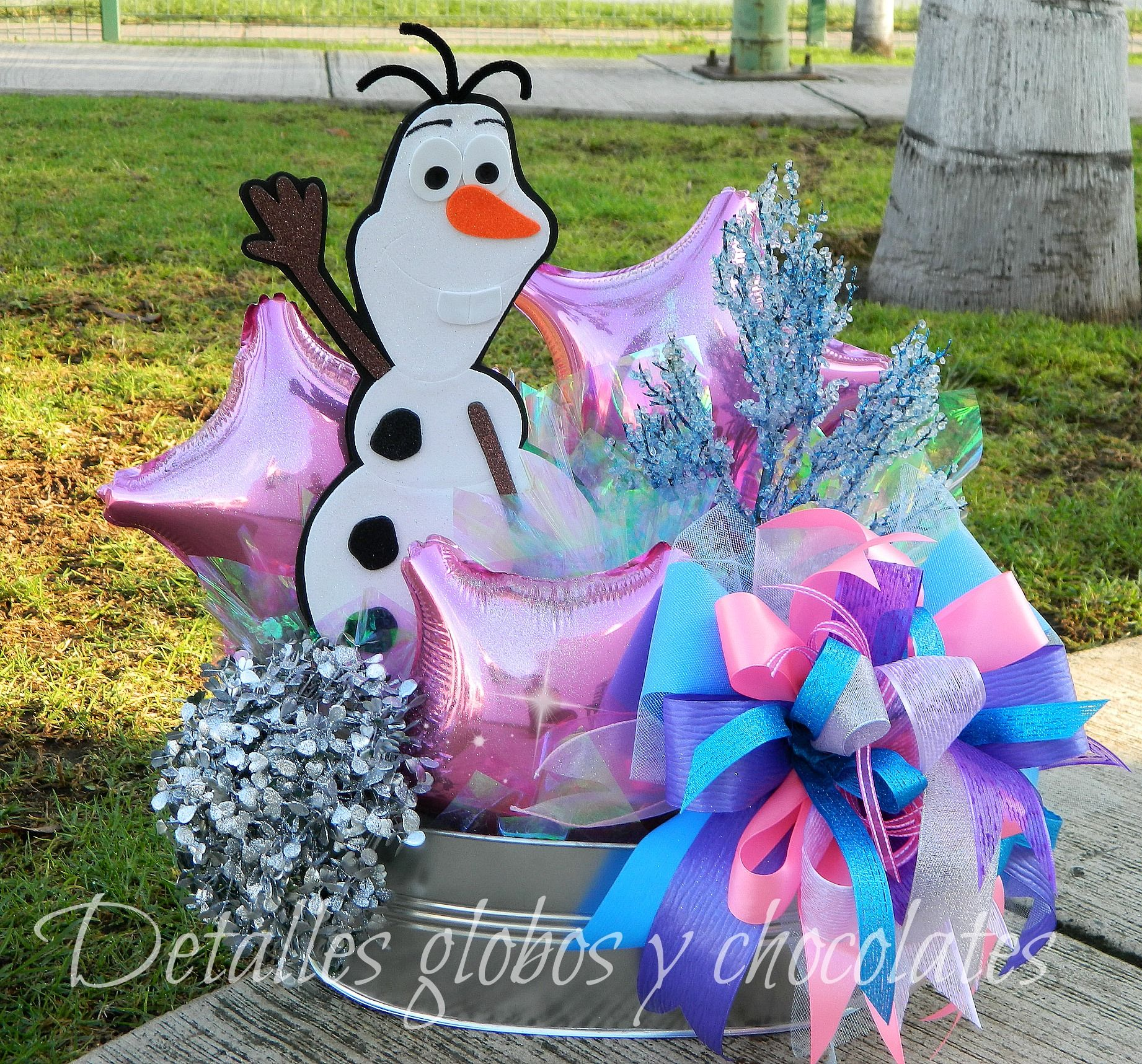 Centro de mesa de frozen party pinterest frozen party fiesta frozen and fiestas - Centros de mesa de frozen ...
