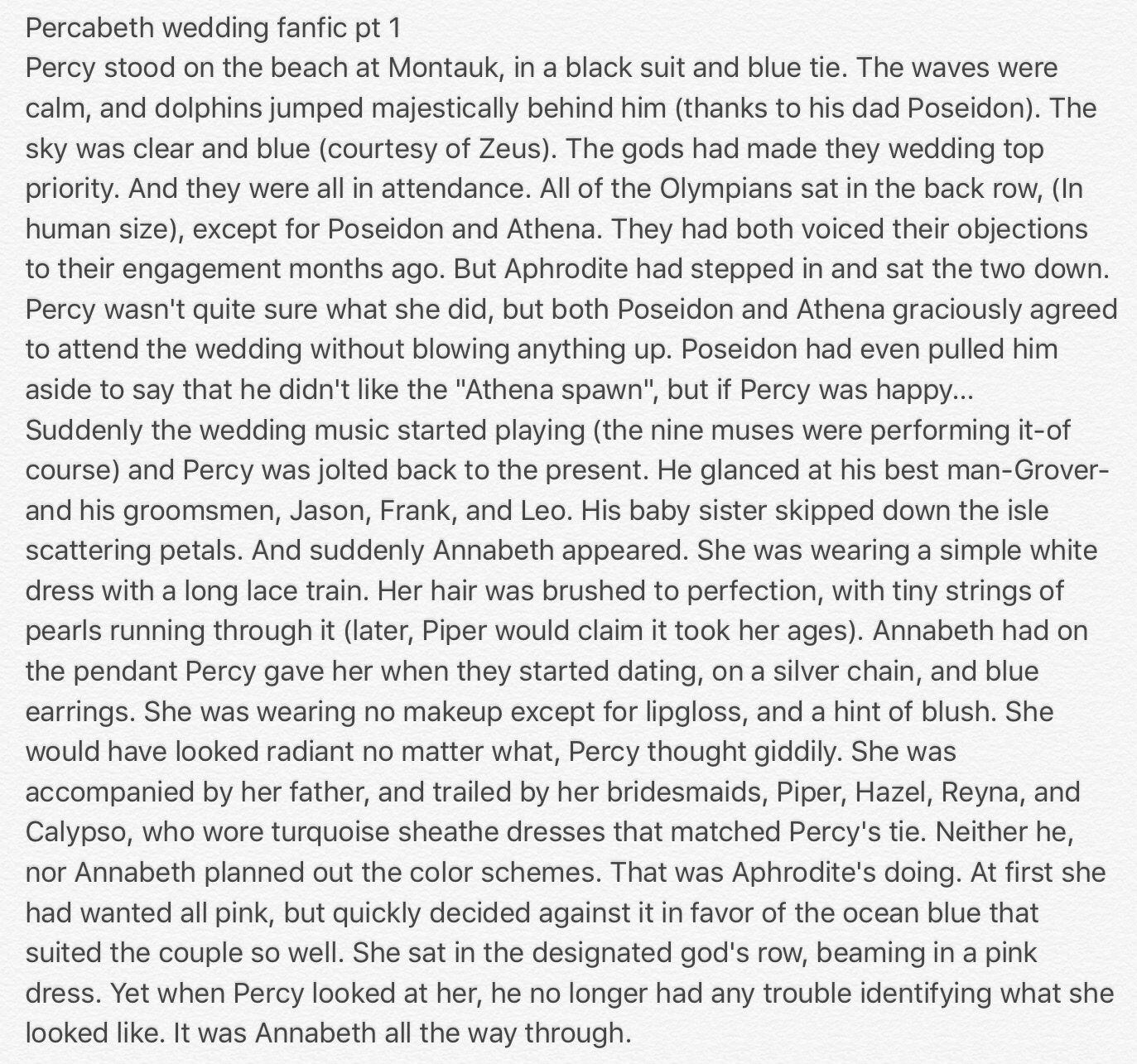Percabeth wedding fanfic | Percy, annabeth, Percy jackson
