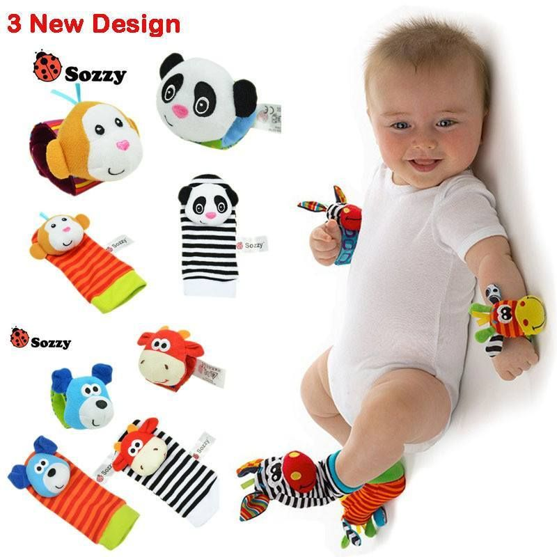 Baby Wrist Strap Rattles Animal Socks Even Cuter Than I Thought They Were Gonna Be Susan W Baby Toys Baby Rattle Toys For Girls