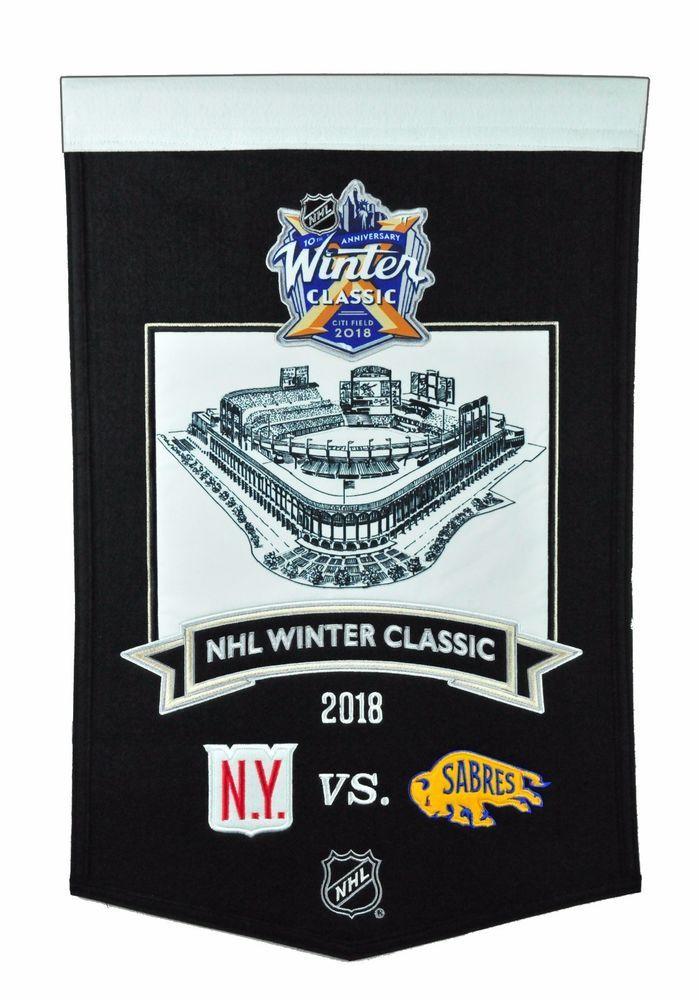 b5a3c9908ea 2018 NHL WINTER CLASSIC WOOL BANNER NEW YORK RANGERS BUFFALO SABRES CITI  FIELD  NewYorkRangers