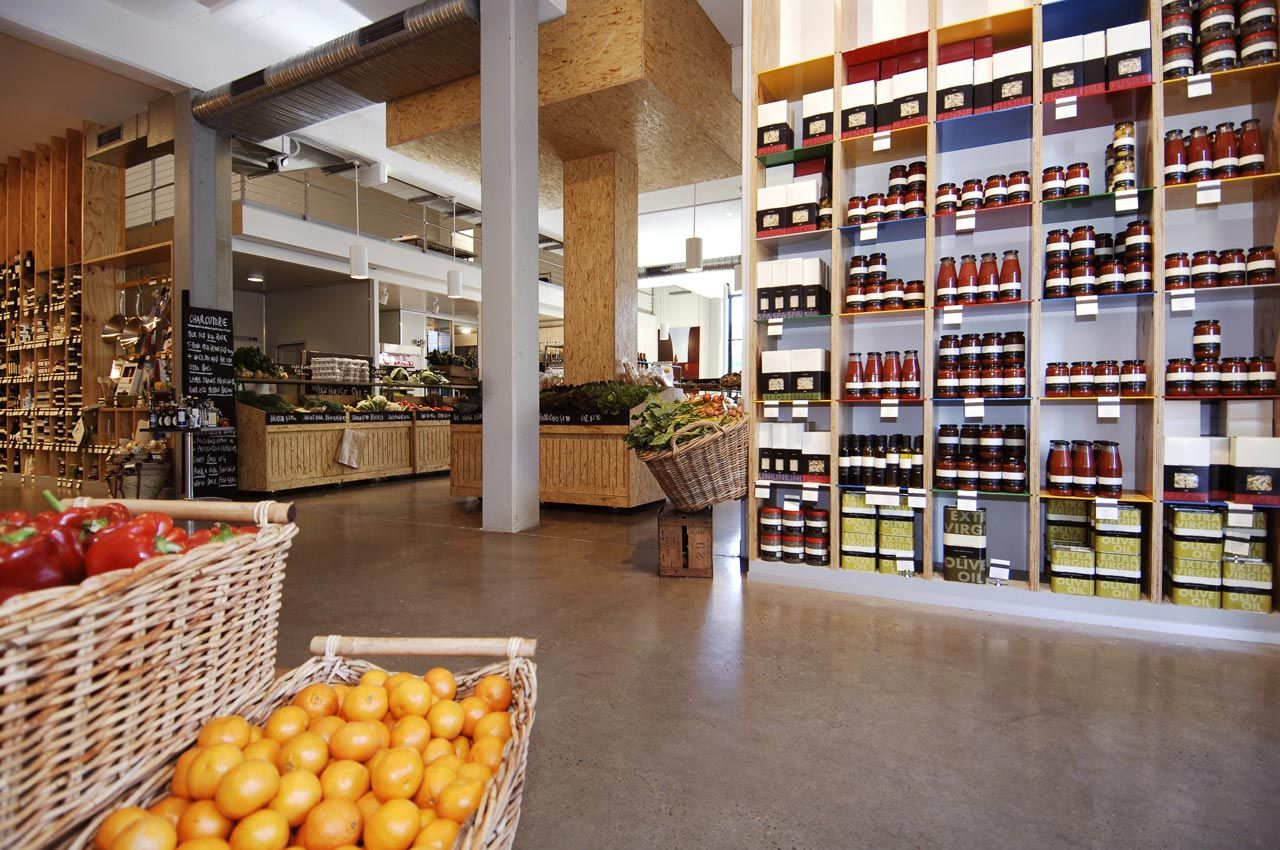 Gourmet food stores. I could spend hours doing laps
