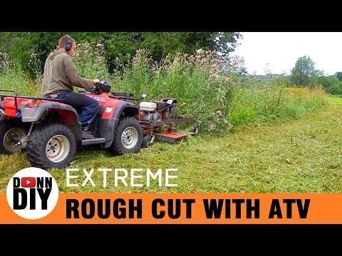 Homemade Front Mount ATV Mower In Action - YouTube | four