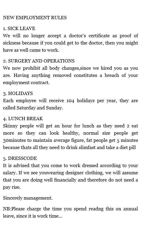 New Employment Rules  WwwGifsGifCom  Funny Gifs