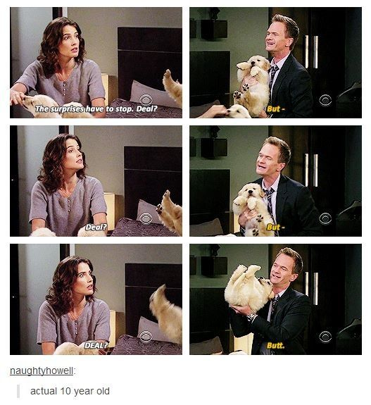 What's better than Barney and a puppy? Nothing. Absolutely nothing.