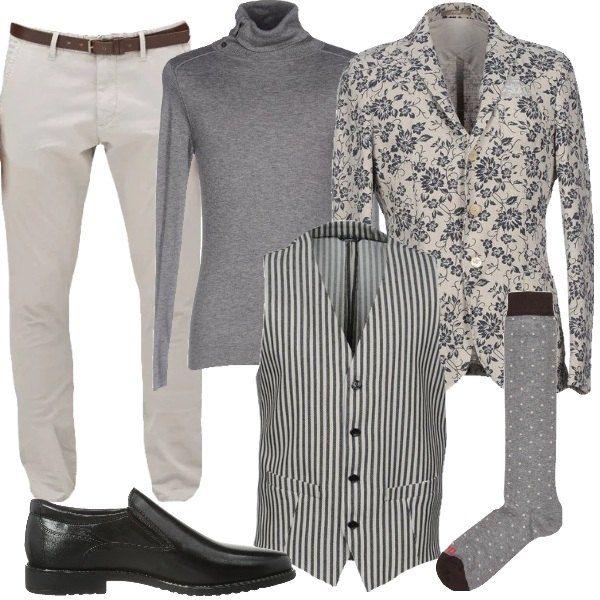 Beige e grigio sono i colori scelti per un look sofisticato in stile ...