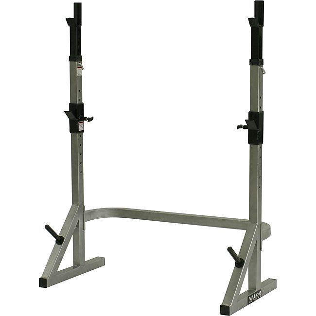 Work out your hamstrings, quadriceps, and other muscles with the help of this combo squat/rack bench from Valor Fitness. This gym machine features 36-inch upright posts and a storage peg, offering you plenty of room and convenient plate storage.