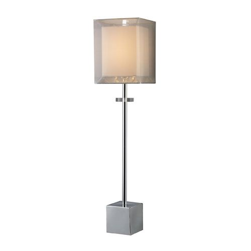 Sligo chrome buffet lamp with double shade dimond buffet lamps table lamps lamps