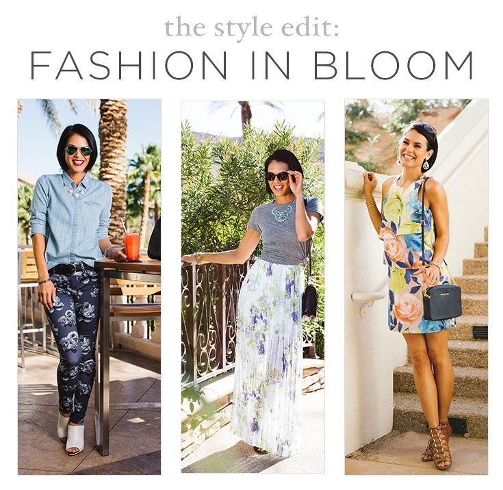 Fashion in Bloom: Floral Prints in 3 Different Ways. #fashion #outfit #inspiration