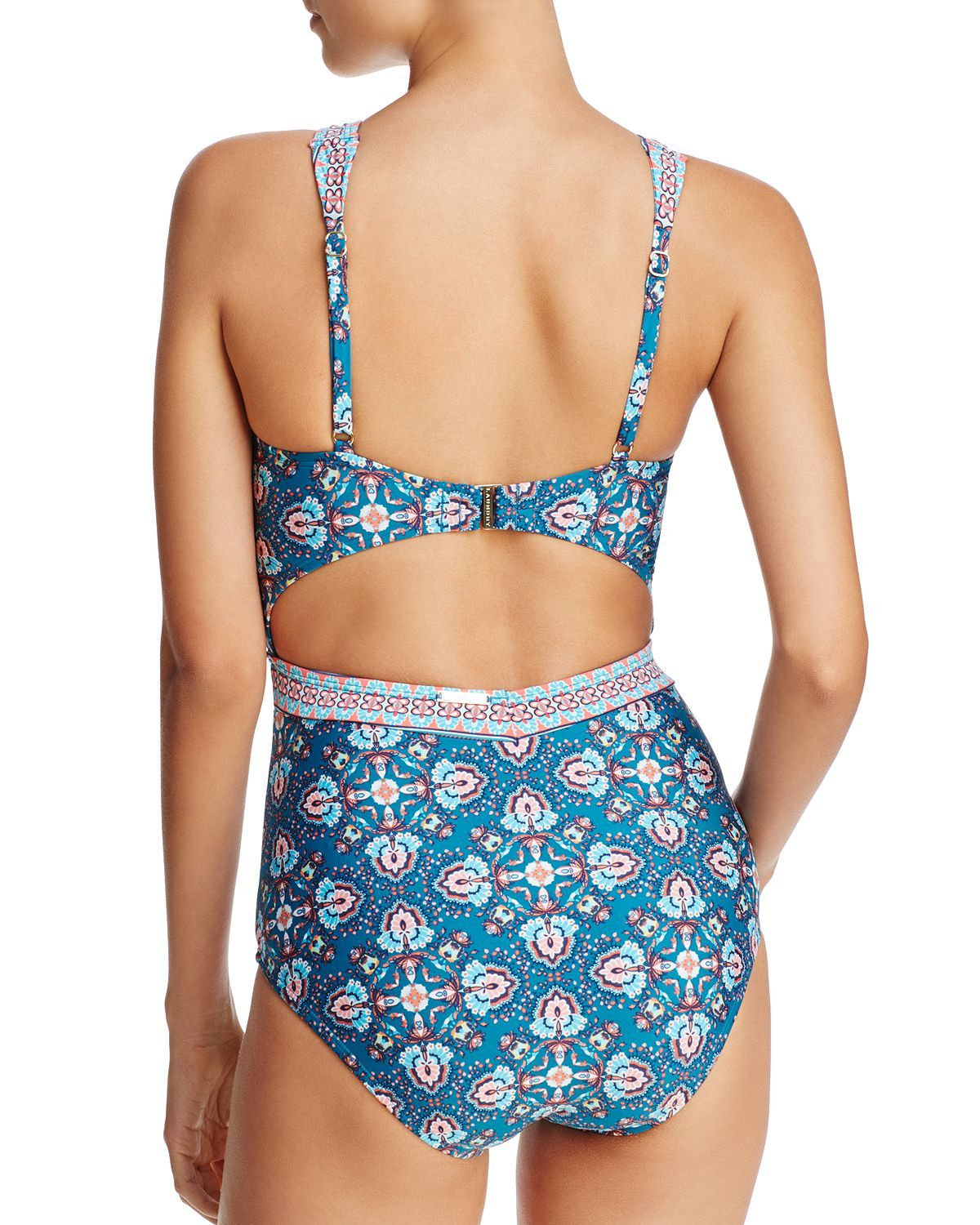 Laundry By Shelli Segal Cutout One Piece Swimsuit One Piece