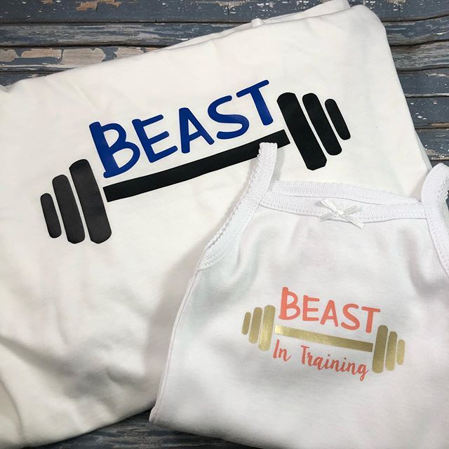 Coordinate with daddy! #crossfit #daddysgirl #personalizedgifts #beast #beastmode #fitness #baby bab...