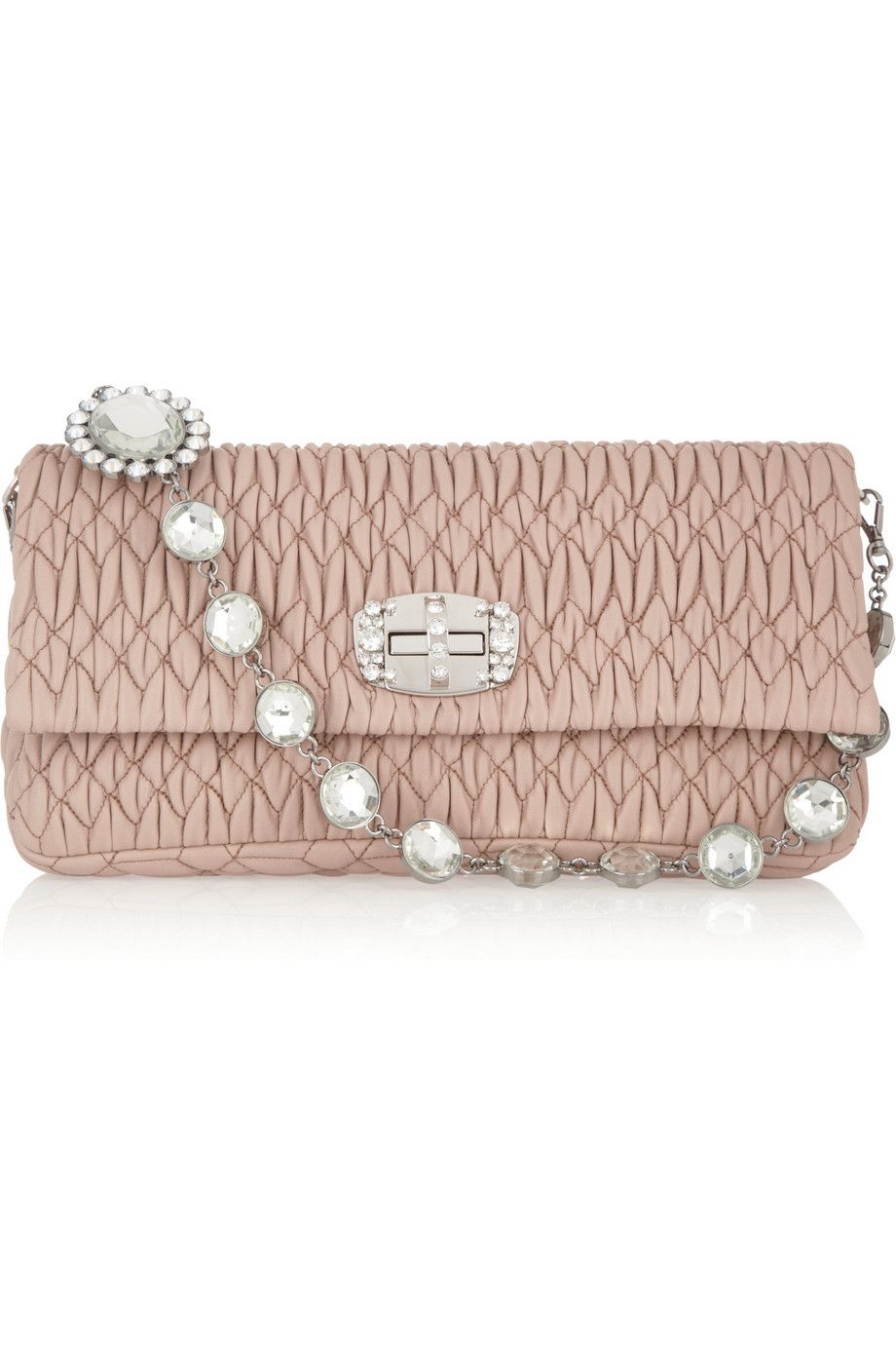 Quilted Colourblock Clutch - Only One Size / Multi Miu Miu Outlet Store Locations Best Prices Cheap Price Buy Cheap Extremely Brand New Unisex Sale Online Best Place Sale Online kI73VFa