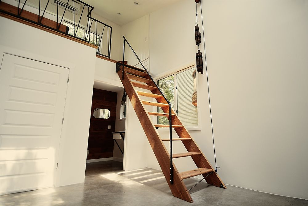 stairs lift up using a pulley system home staircases. Black Bedroom Furniture Sets. Home Design Ideas