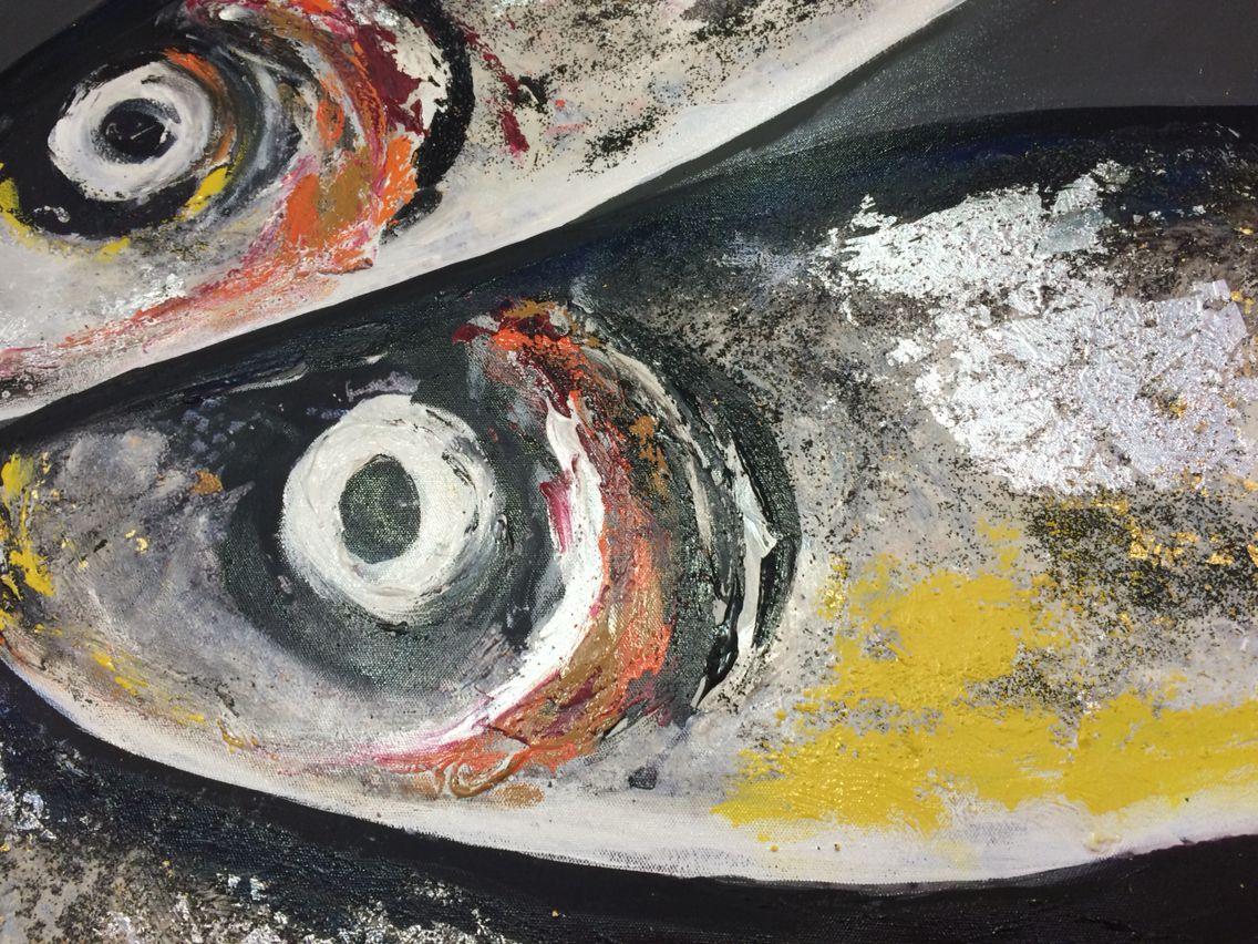 Felix murillo lleno de colores painting acrylic artwork fish art - Fish Eye Fishdrawingspainting