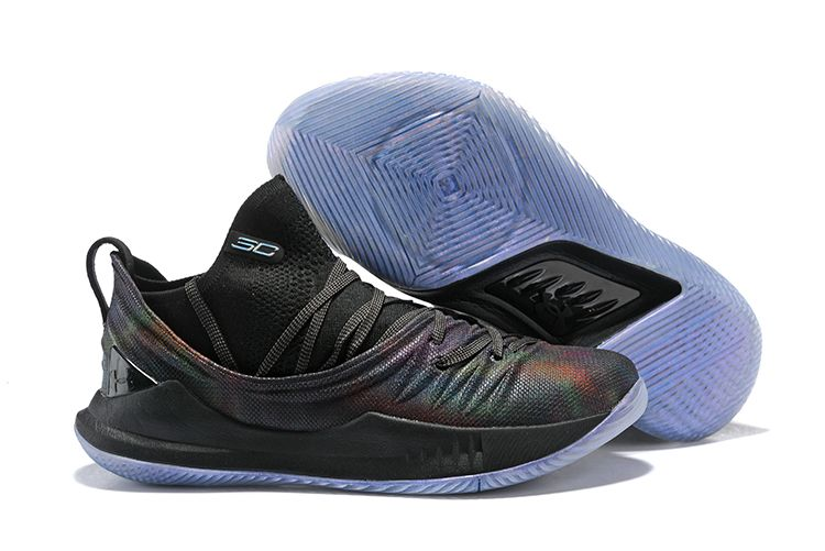 a36340d48344 Under Armour Curry 5 Low Black Rainbow Basketball Shoes
