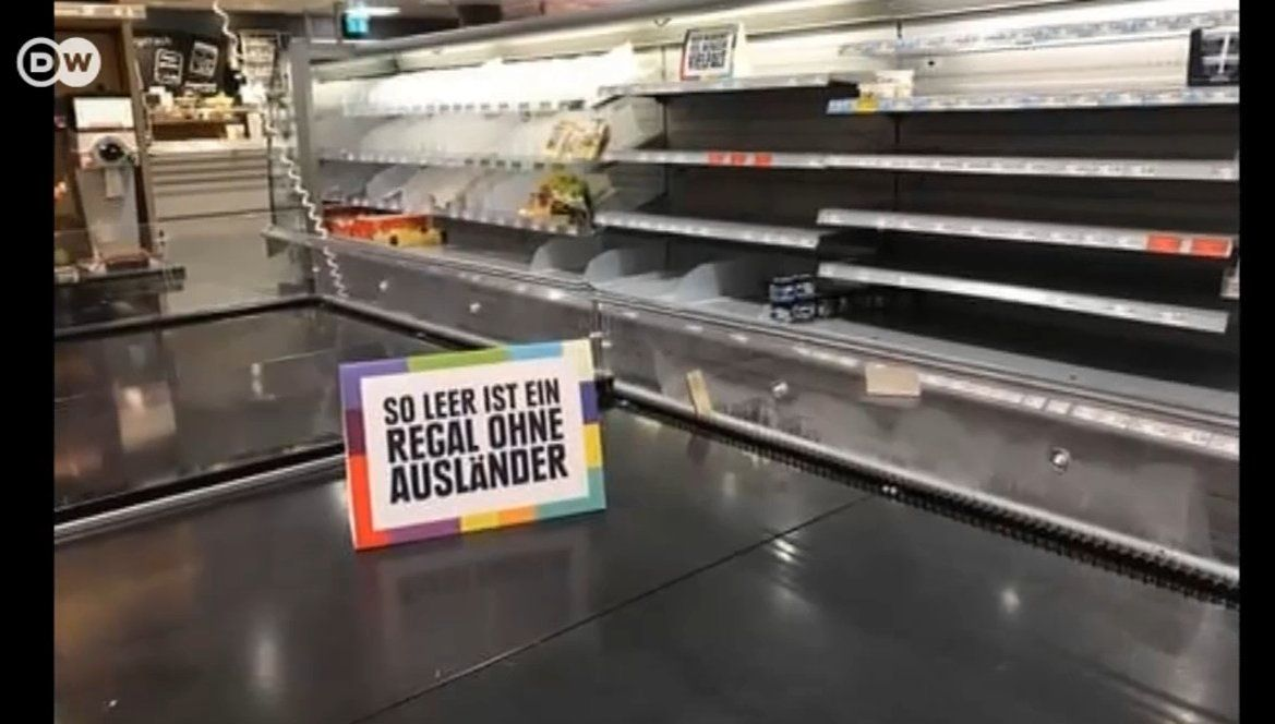 "dwnews on Twitter: """"This shelf is pretty boring without diversity"": German supermarket EDEKA removed all foreign products to take a stand against racism. https://t.co/k2DWwdUCsf"""