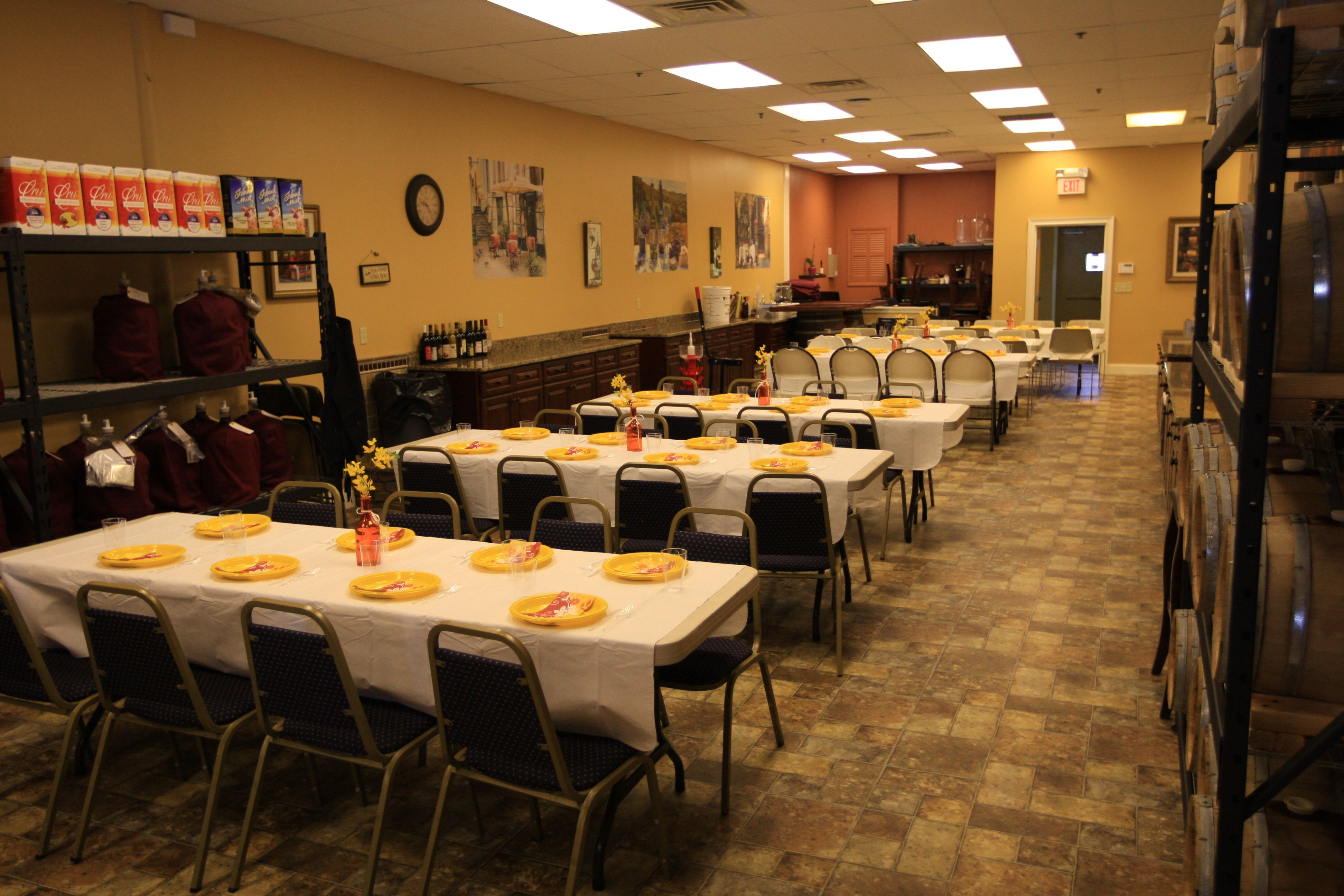 Nice classic seating to accommodate 75 guests.