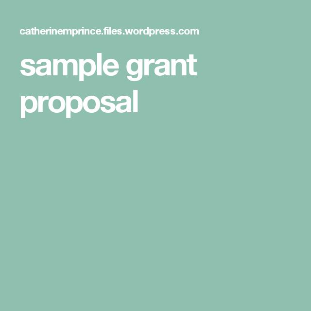 Grant Proposal, Proposal Sample, Grant