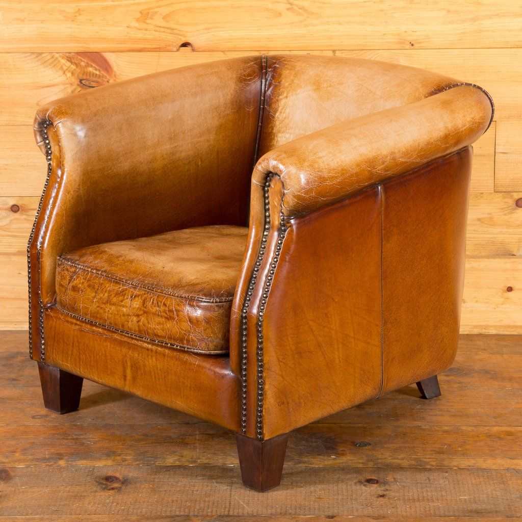 Buffalo Leather Barrel Chair Barrel Chair Leather Tub Chairs Chair