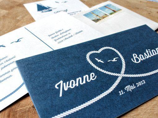 Print Design: Hochzeitseinladung Maritim