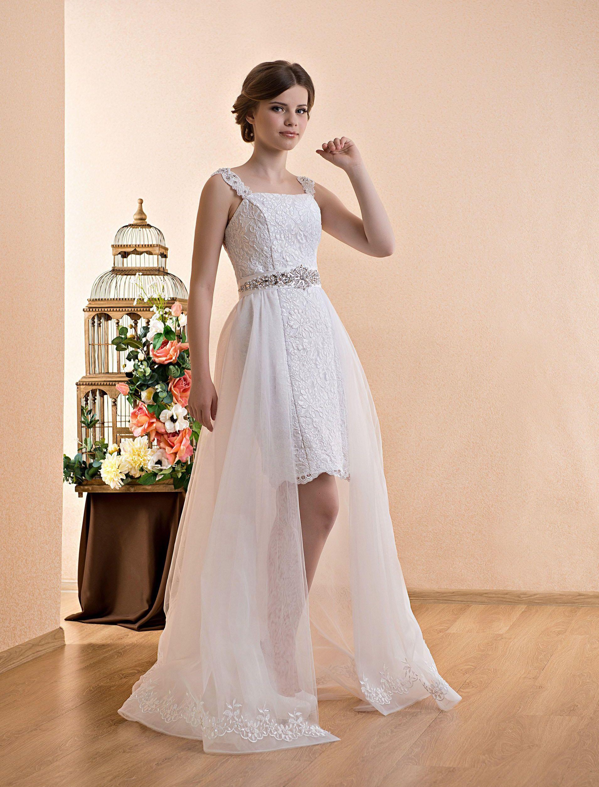 Short Wedding Dress Dress Transformer With A Cape Belt Chiffon Skirt And Lace Simple Wedding Dress Bohemian Wedding Wedding Dresses Dresses White Short Dress [ 2508 x 1909 Pixel ]