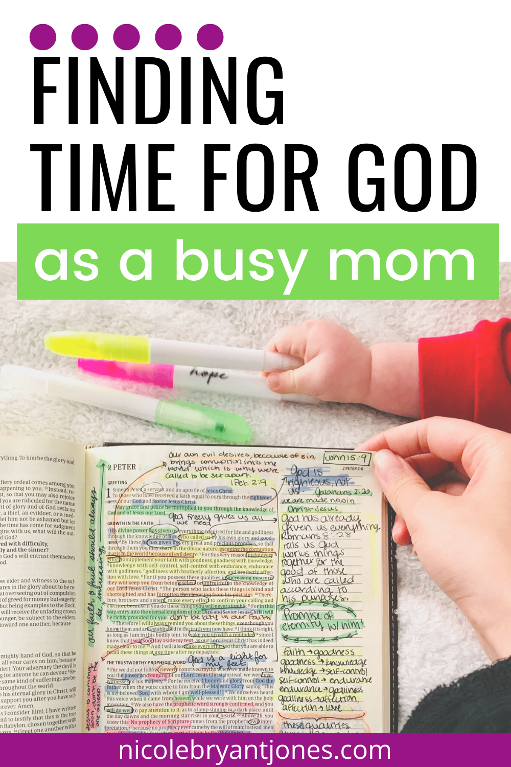 easy ways to find time for God as a new parent in 2020