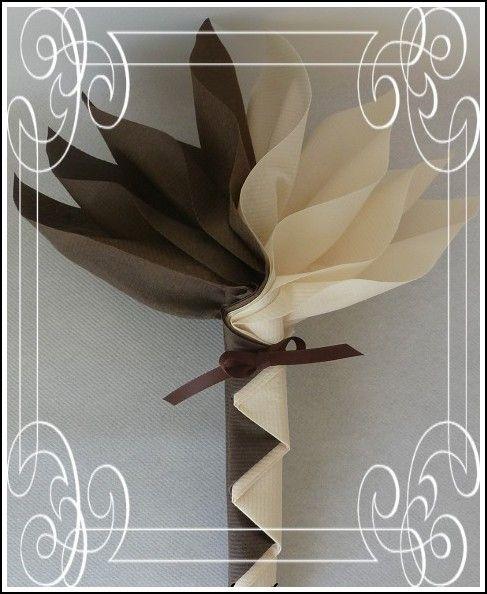 Pliage Serviette Décoration En Noir Et Blanc Pinterest Napkin