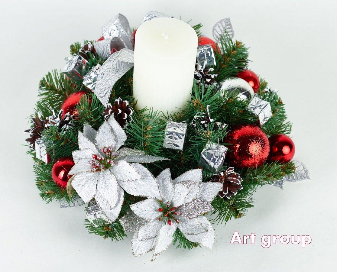 Christmas Wreath Christmas Candle Holder Candlestick Christmas Table Decor Decor Christmas Candle Holders Christmas Wreaths Candle Wreaths