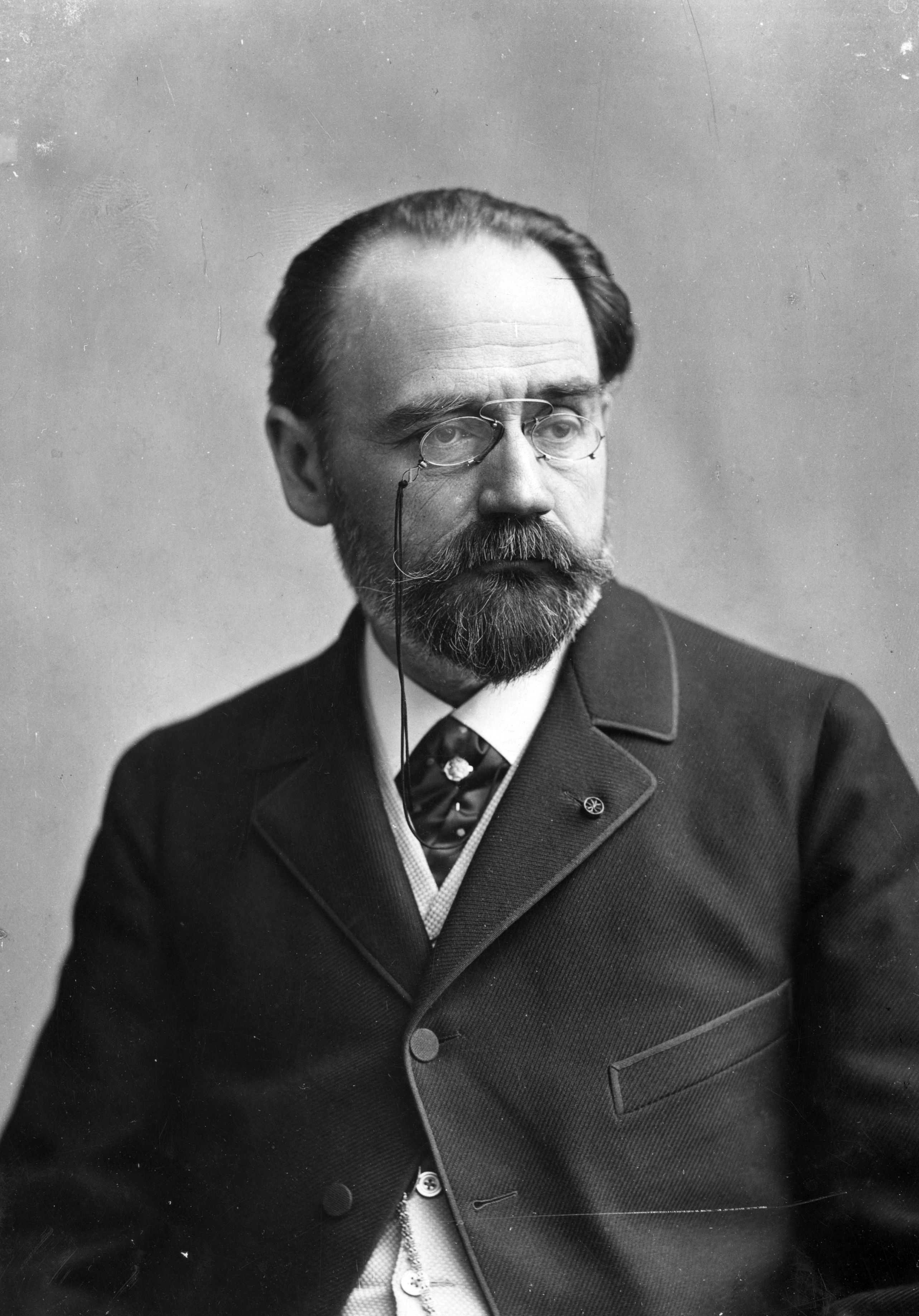 1902 portrait of Emile Zola with quote poster