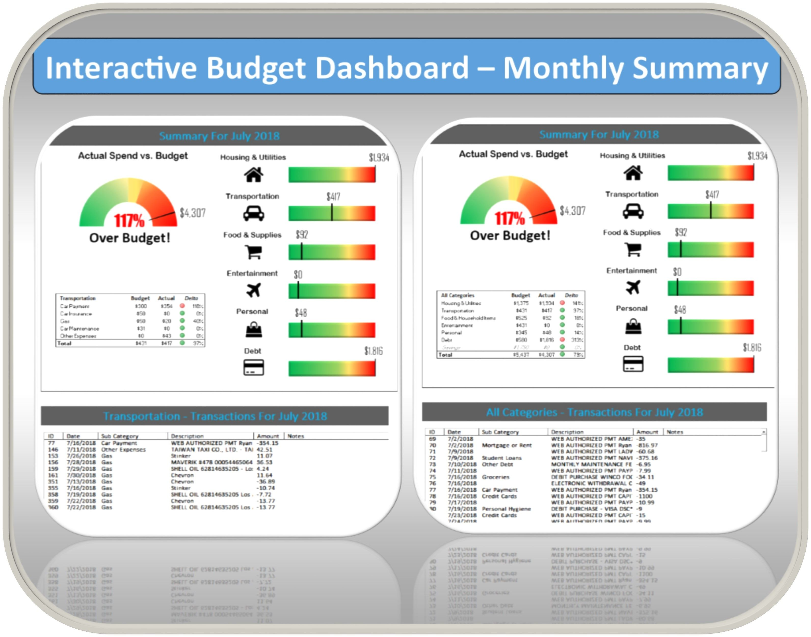 Excel Budget Planner Template