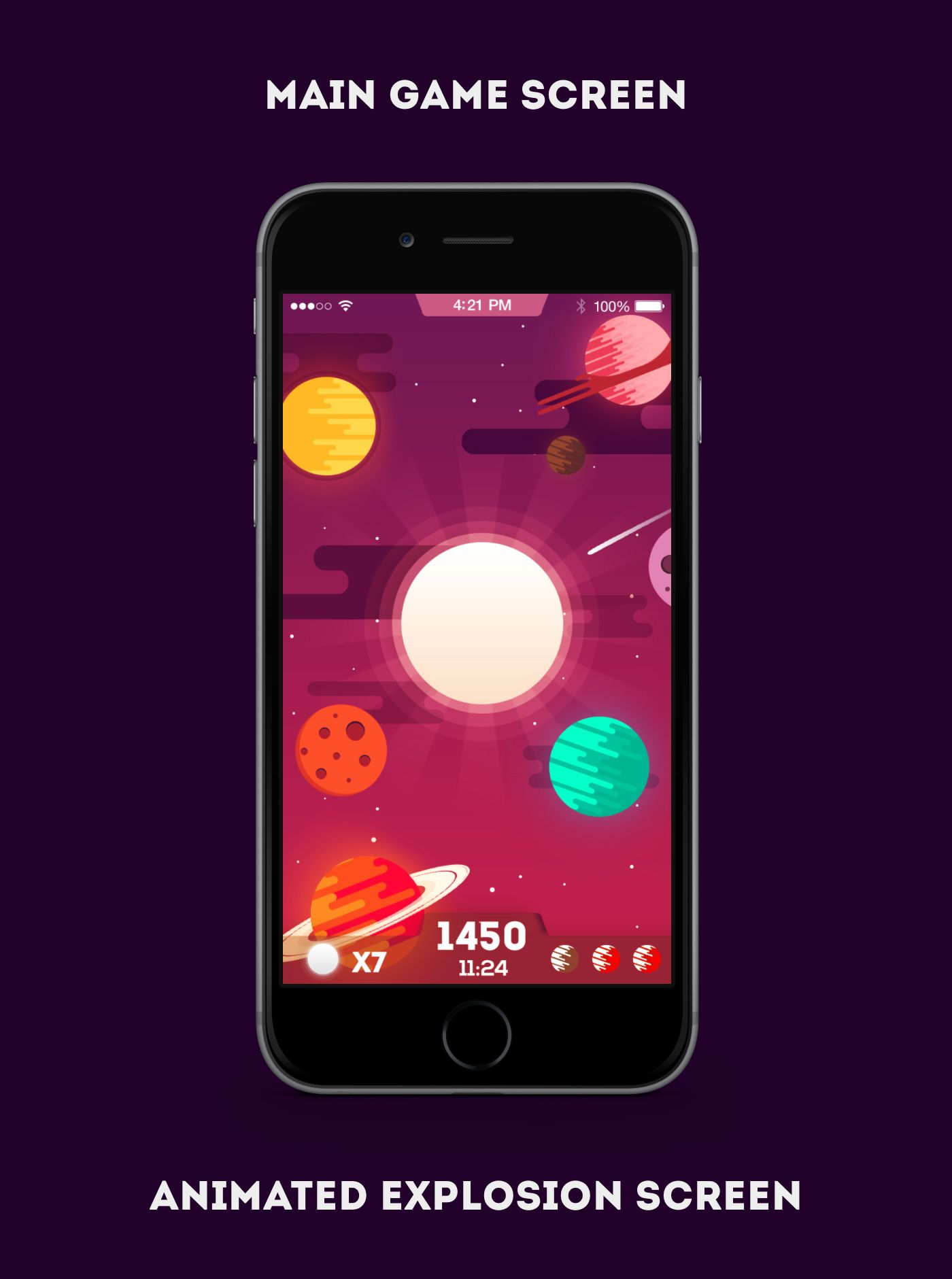 Apocalypse Is A Concept Design Of An Ios Game Where You Need To Touch The Planets To Avoid The Sun That Will Destroy Them So I Hope You Like It Guys