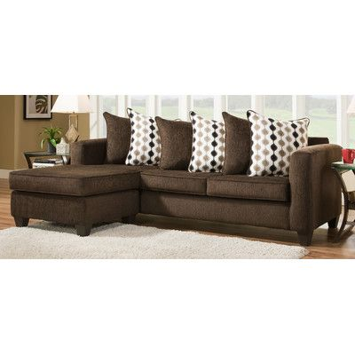 Brady Furniture Industries Pottery Reversible Chaise Sectional Upholstery:  Mahogany
