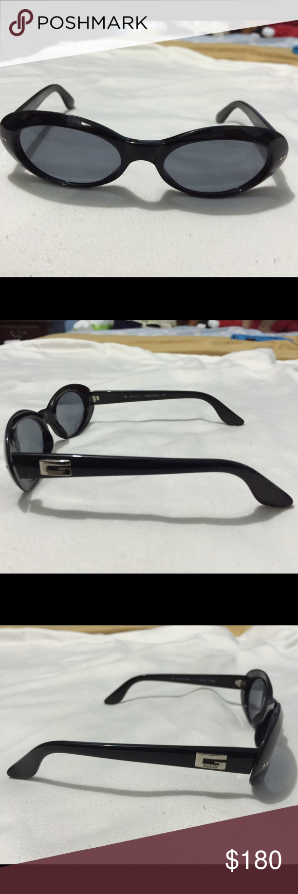 1ae32eb6547e8 Vintage Gucci black frame Sunglasses GG 2413 N S G THIS IS AUTHENTIC GUCCI