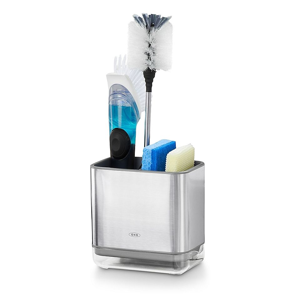 Oxo Good Grips 174 Sink Caddy In Stainless Steel Black In