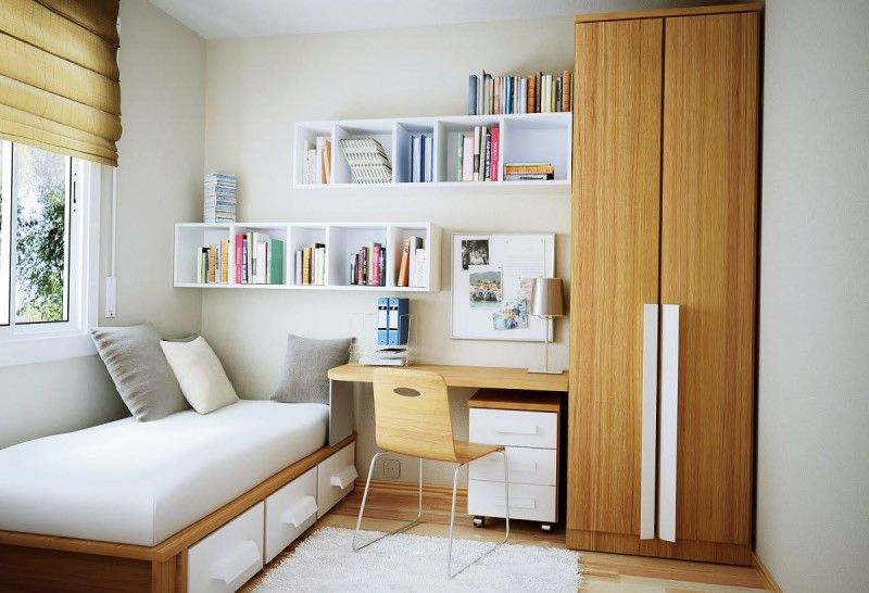 Bedroom Cabinet Designs Small Rooms Teenage Girl Kamar Tidur Kecil