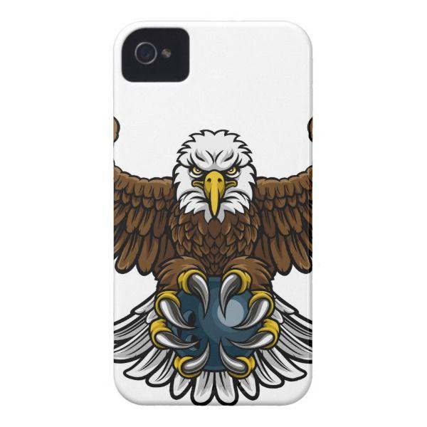 Eagle Bowling Sports Mascot iPhone 4 Case Custom Brandable ...
