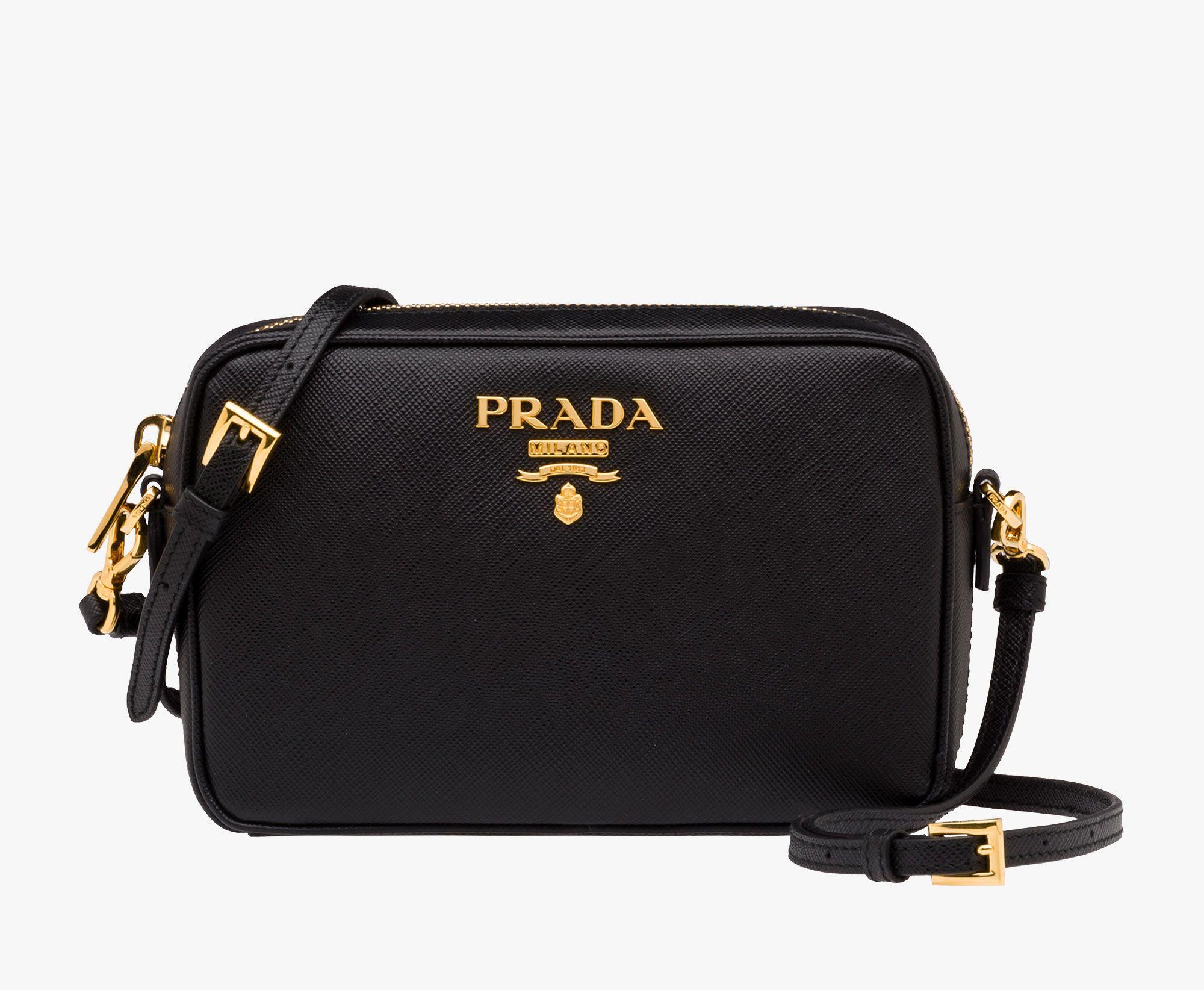 01ae2451a Prada Woman - Bandolera de cuero - Negro - 1BH036_NZV_F0002_V_OOO ...