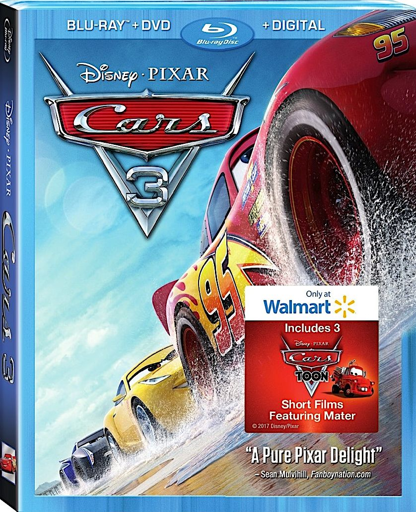 cars 3 walmart exclusive blu ray disney recent and. Black Bedroom Furniture Sets. Home Design Ideas