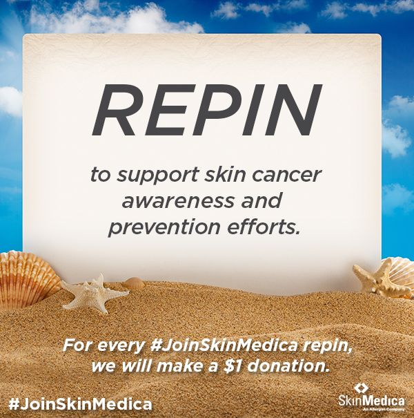 #JoinSkinMedica in the fight against skin cancer. 1 repin = $1 donation